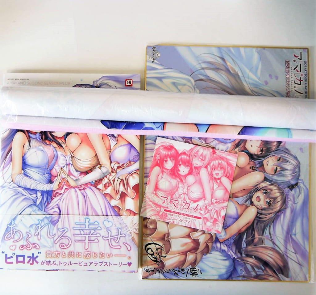 アマカノ+ ビジュアルファンブック ドラマCD付限定版&特典タペストリー
