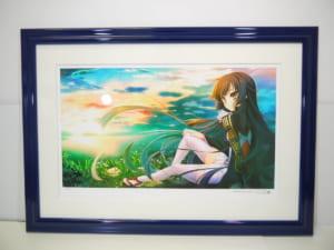 片桐雛太 版画 鳩の海辺(ミクスドメディア)