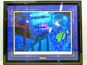 版画 七尾奈留 夏の夜 ミクスドメディア