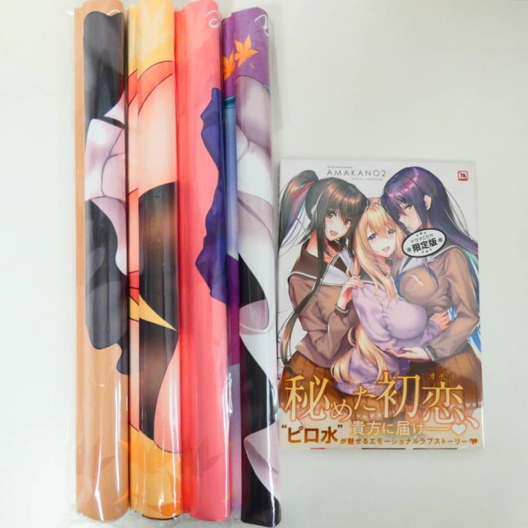 アマカノ2 ビジュアルファンブック ドラマCD付限定版 + Wタペストリー4枚フルセット