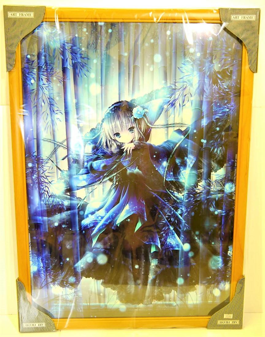 絵師100人展01 複製原画 てぃんくる 「蒼雪の灯」